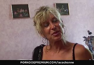 La Cochonne - filthy Mature Flashes off big Tits And Bj s Pinkish cigar