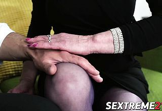 Successful super ultra kinky granny Fairy Torn up On sofa By Robs rock firm jizz shotgun