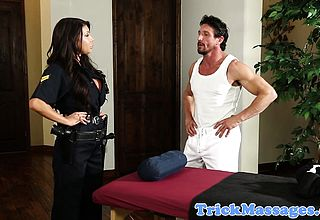 Bigtitted Police Doll Torn up during massage