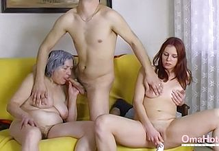 Omahotel nude couple and granny Playthings 3 way