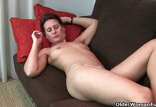 Ultra ultra kinky hairy gilf is searching For a stiff Meat pole