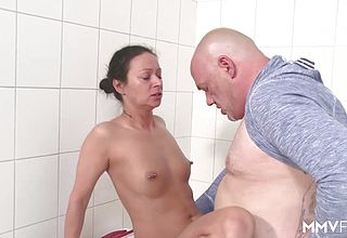 MMV FILMS German Cougar jacking the plumber