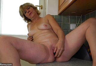 Oldnanny lesbian- dame on damsel Teen and Grannie is Very kinky