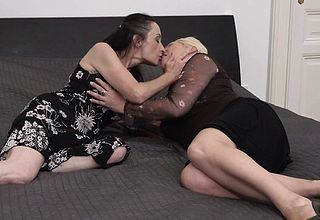 Elderly mother Munching out her mature daughter in law in law in law