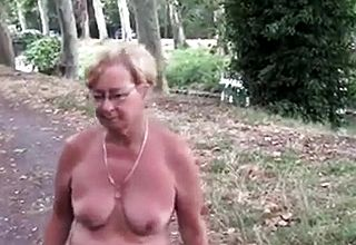 Mature Naked Outside