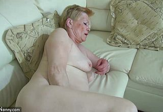 OldNanny aged aged with big electro magic wand Masturbate