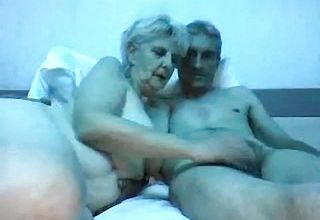 Senior Couple In a web cam